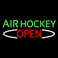 Air Hockey Open Real Neon Glass Tube Leuchtreklame