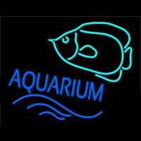 Aquarium With Fish Logo Leuchtreklame
