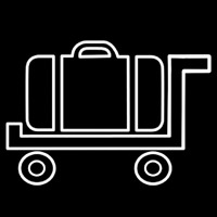 Baggage Cart Icon Leuchtreklame