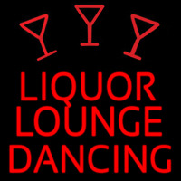 Bar Liquor Lounge Dancing With Wine Glasses Leuchtreklame