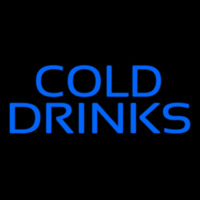Blue Cold Drinks Leuchtreklame