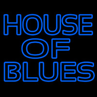 Blue House Of Blues Leuchtreklame