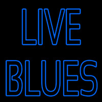 Blue Live Blues Leuchtreklame