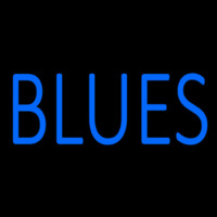 Blues Block Leuchtreklame