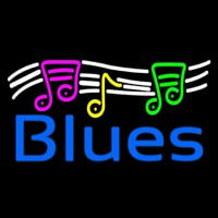 Blues With Musical Note 1 Leuchtreklame