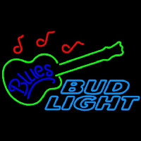 Bud Light Blues Guitar Beer Sign Leuchtreklame