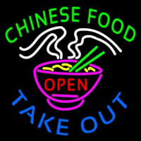 Chinese Food Open Take Out Leuchtreklame