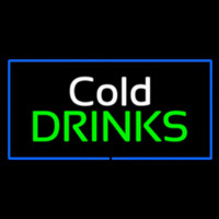 Cold Drinks Rectangle Blue Leuchtreklame