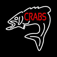 Crabs With Fish Logo Leuchtreklame
