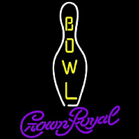 Crown Royal Bowling Beer Sign Leuchtreklame