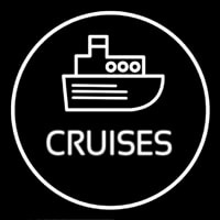 Cruises Icon Button Leuchtreklame