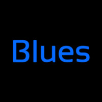 Cursive Blues Blue Leuchtreklame