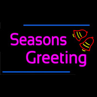 Cursive Seasons Greetings 2 Leuchtreklame
