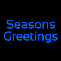 Cursive Seasons Greetings Leuchtreklame