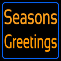 Cursive Seasons Greetings1 Leuchtreklame