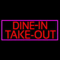 Custom Dine In Take Out Leuchtreklame