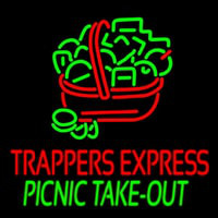 Custom Trappers E press Picnic Take Out Leuchtreklame