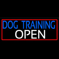 Dog Training Open With Red Border Leuchtreklame