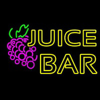 Double Stroke Juice Bar With Grapes Leuchtreklame