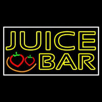 Double Stroke Juice Bar With Strawberries Leuchtreklame