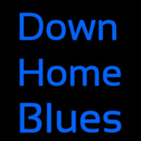 Down Home Blues Leuchtreklame