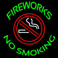 Fire Works No Smoking With Logo Leuchtreklame