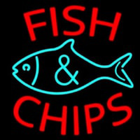 Fish Logo Fish And Chips Leuchtreklame