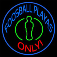 Foosball Playas Only Leuchtreklame