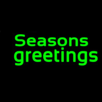 Green Seasons Greetings Leuchtreklame