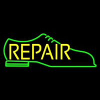 Green Shoe Yellow Repair Leuchtreklame