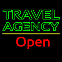Green Travel Agency Open Leuchtreklame