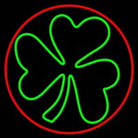 Happy St Patricks Day Shamrock Leuchtreklame