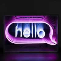 Hello 3D Infinity LED Neon Sign