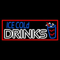 Ice Cold Drinks Leuchtreklame