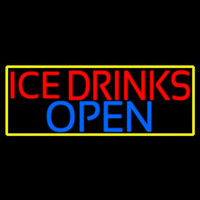 Ice Cold Drinks Open Leuchtreklame