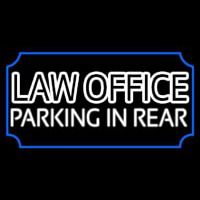 Law Office Parking In Rear Leuchtreklame