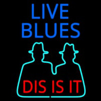 Live Blues Dis Is It Leuchtreklame
