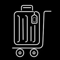 Luggage Bag Icon Leuchtreklame