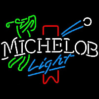 Michelob Light Red Ribbon Golfer Leuchtreklame