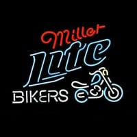 Miller Lite Bike Bikers Bicycle Logo Leuchtreklame