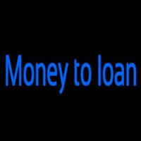 Money To Loan Leuchtreklame