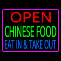 Open Chinese Food Eat In Take Out Leuchtreklame