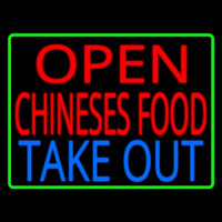Open Chinese Food Take Out Leuchtreklame