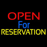 Open For Reservation 1 Leuchtreklame