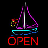 Open Sailboat Leuchtreklame