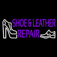 Purple Shoe And Leather Repair Leuchtreklame