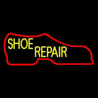 Red Boot Shoe Repair Leuchtreklame