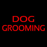 Red Dog Grooming Leuchtreklame