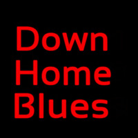 Red Down Home Blues Leuchtreklame