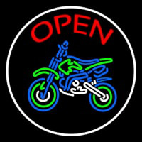 Red Open Bike Logo Leuchtreklame